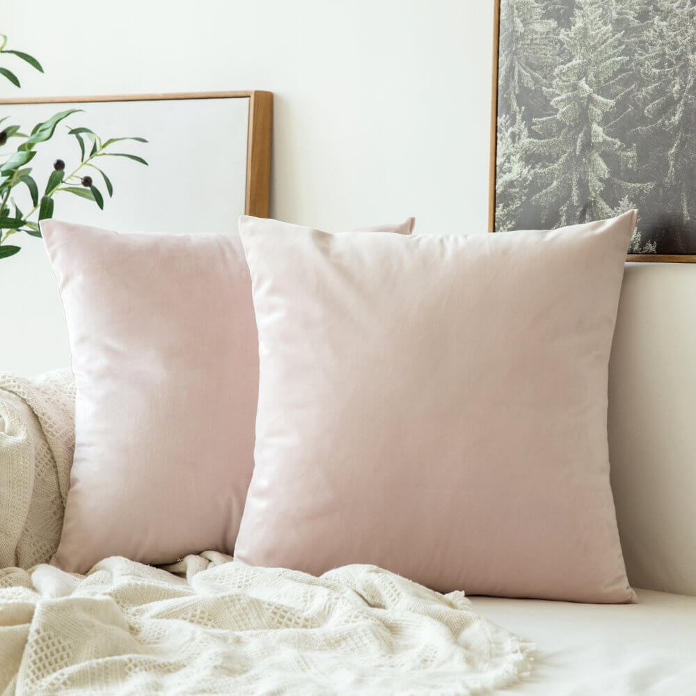 Velvet Pink Pillow Cover