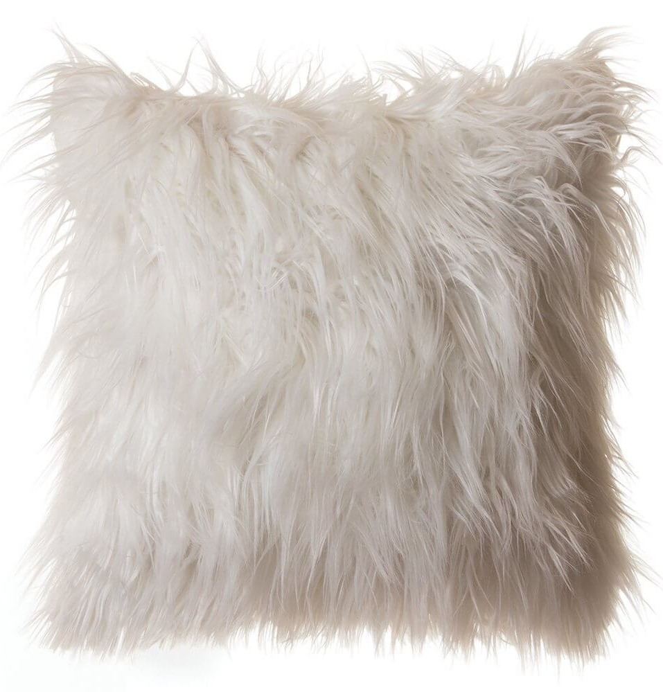 White Fur Pillow Amazon