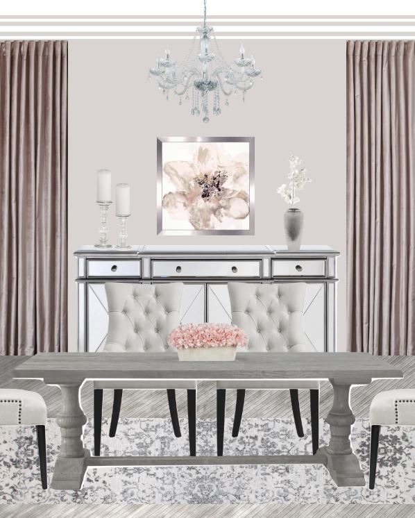 Neutral Elegant Dining Room