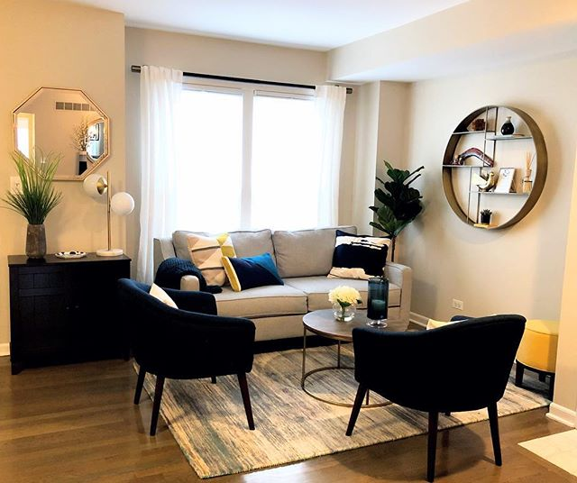 Just wrapped up another project and I'm so excited for this reveal! The transformation is incredible (swipe to see before photos). I loved working with these clients and they are so happy with the space - which makes me so happy too! Click the link in bio to see the full gallery!