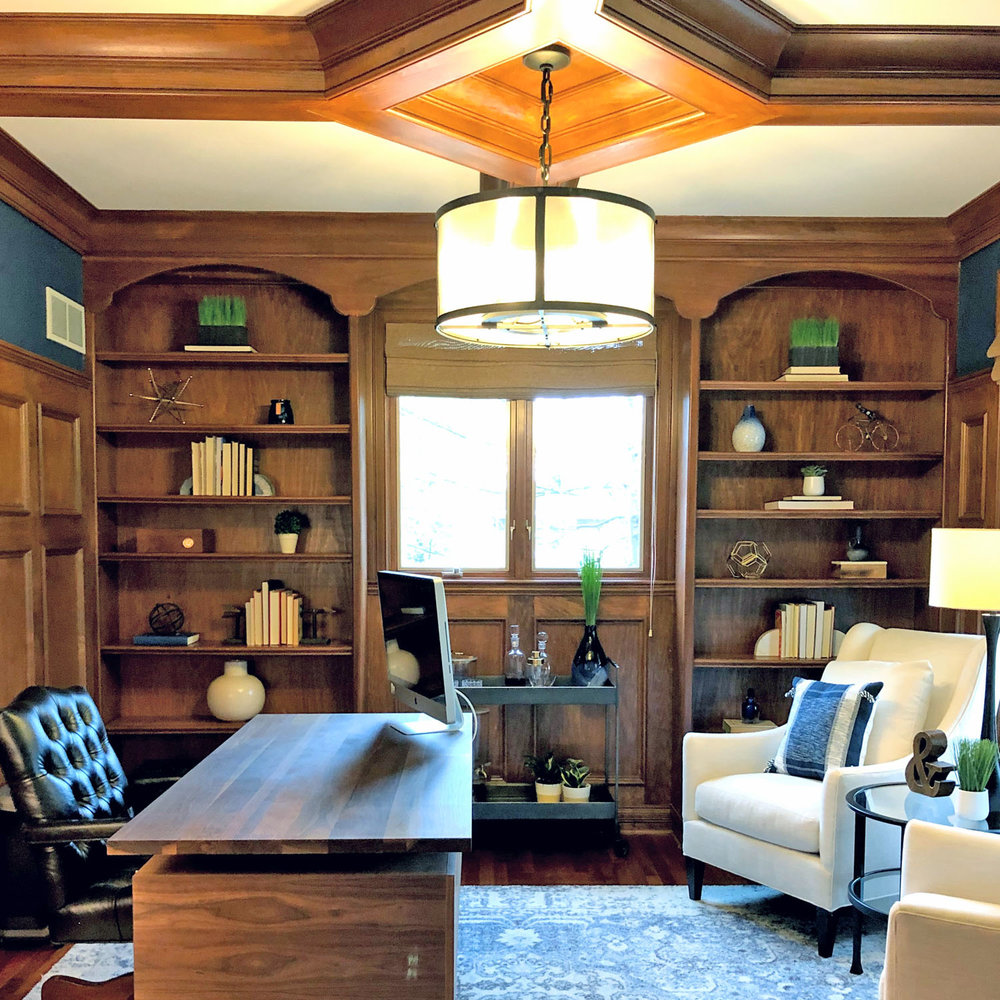 Geneva traditional office whittaker interiors interior decorating e design staging in chicago