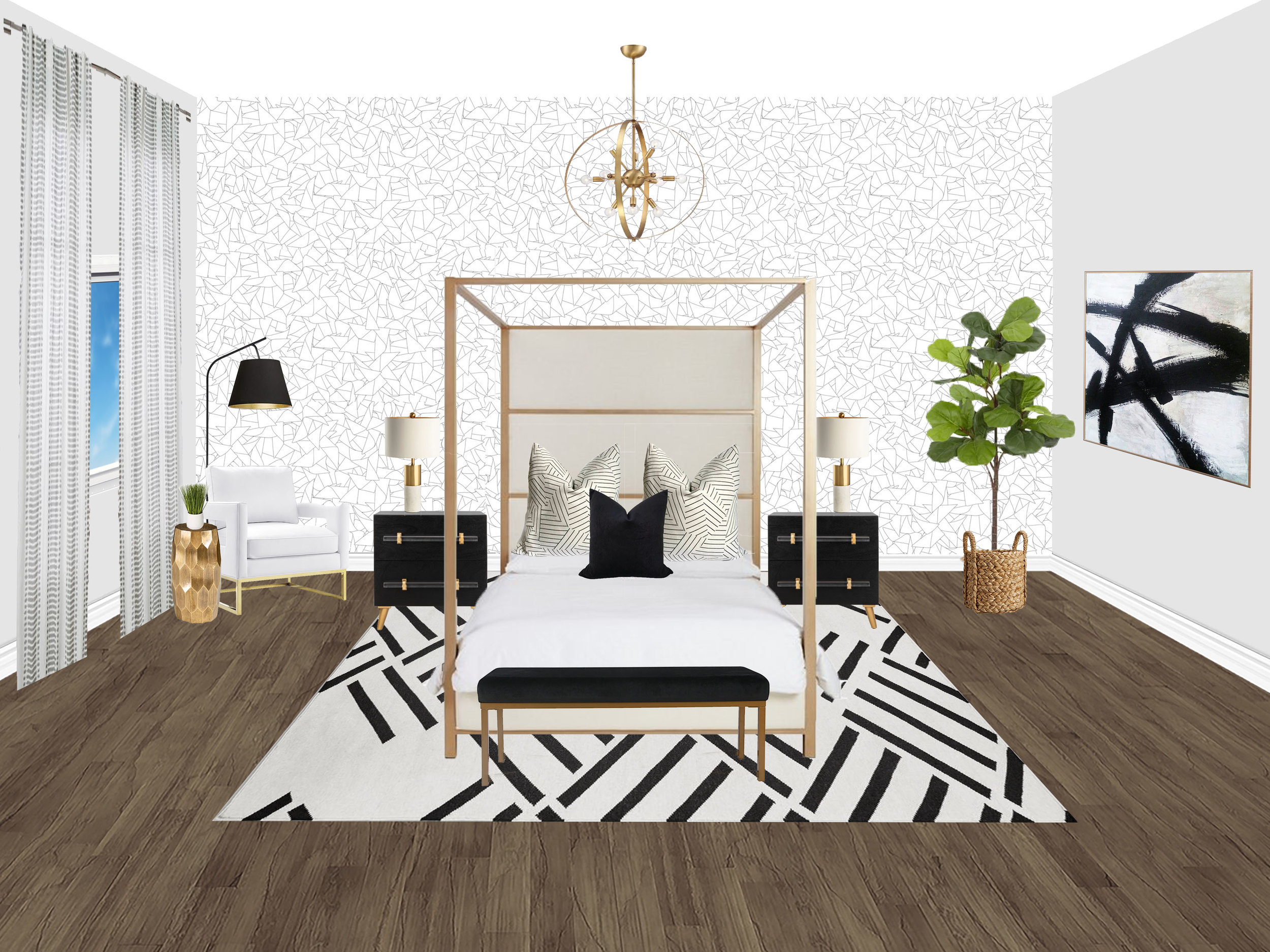 Whittaker Interiors E-Design Bedroom
