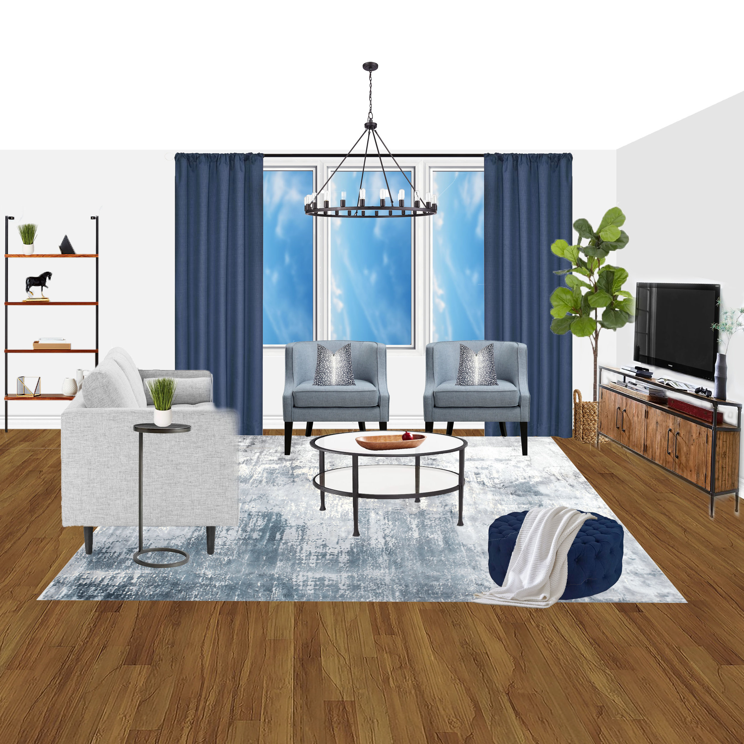 Living Room E-Design