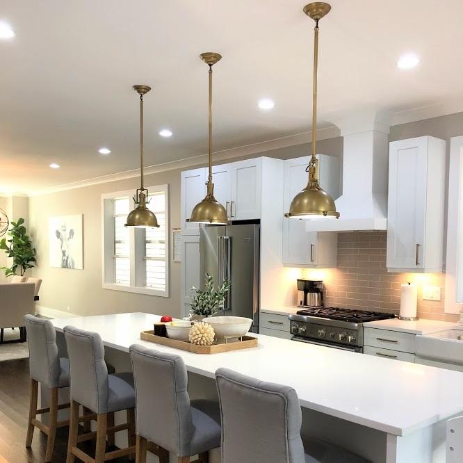 Whittaker Interiors White And Gold Kitchen