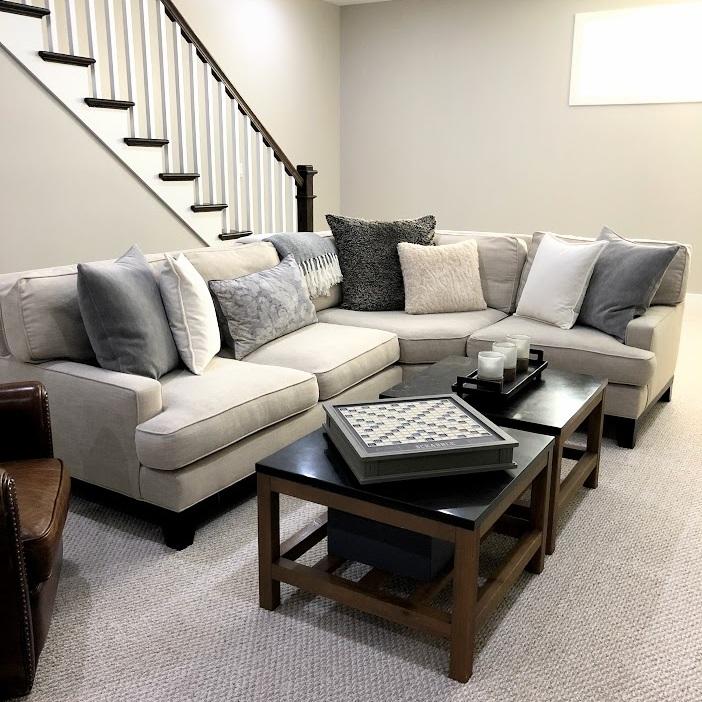 Whittaker Interiors Cozy Basement
