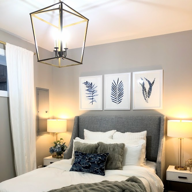 Whittaker Interiors Gray And Blue Modern Bedroom