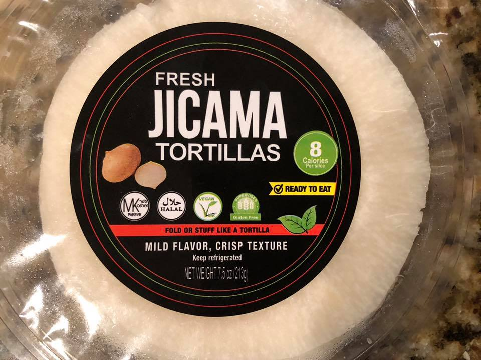 You can find these Jicama Tortillas in the produce section at HEB.