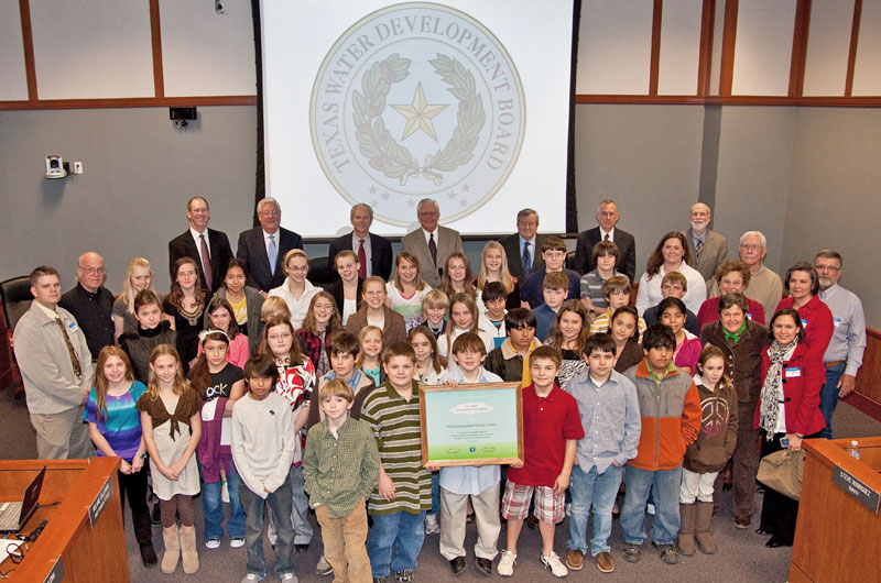 Fifth and sixth graders from Hunt School, in Hunt, Texas traveled to Austin to claim their award
