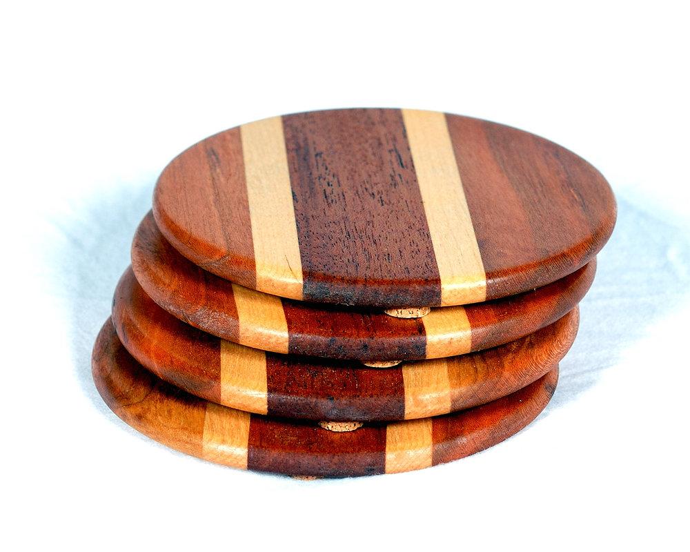 Hardwood Coasters Set Of Four Coastal Handmade Co