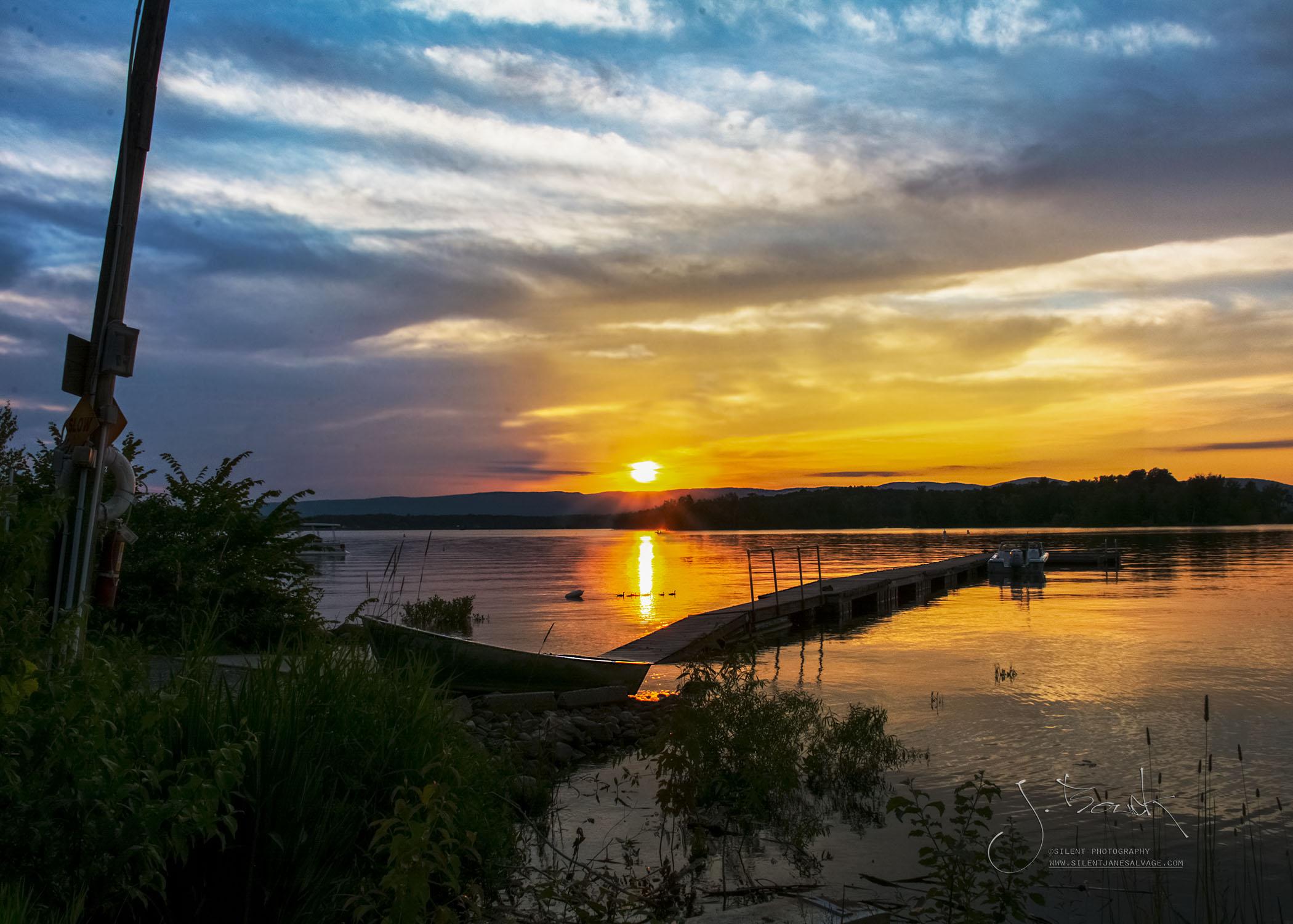 Sacandaga Sunset w Ducks 7123