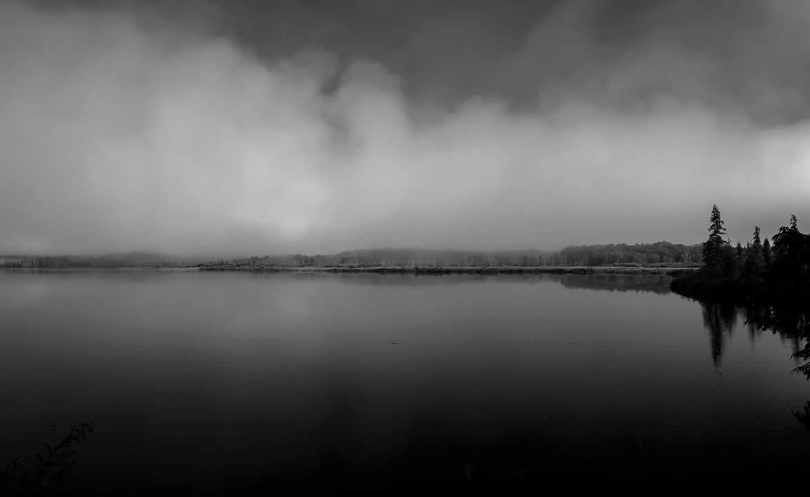 Vly Lake b/w mist