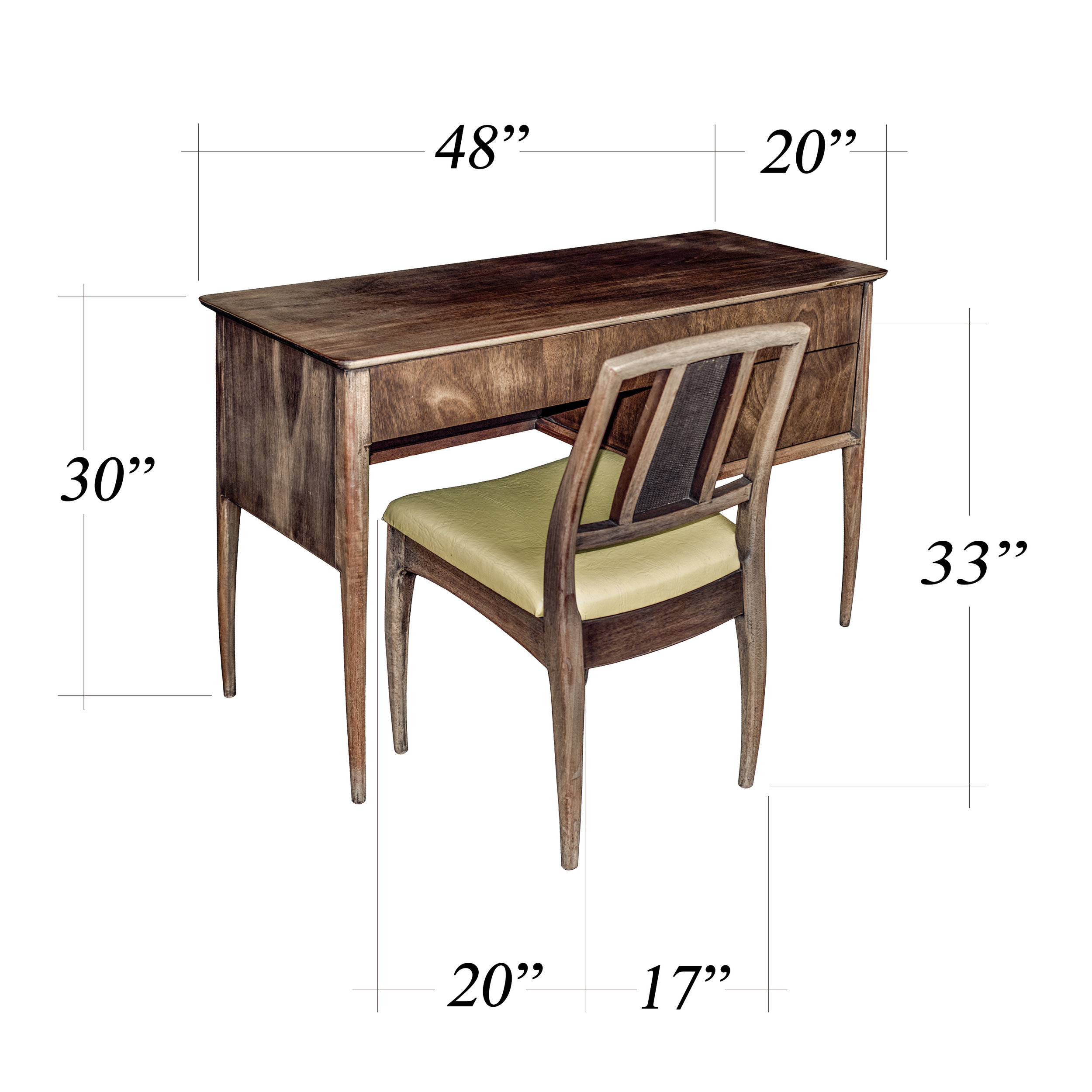 Desk & Chair Dimensions