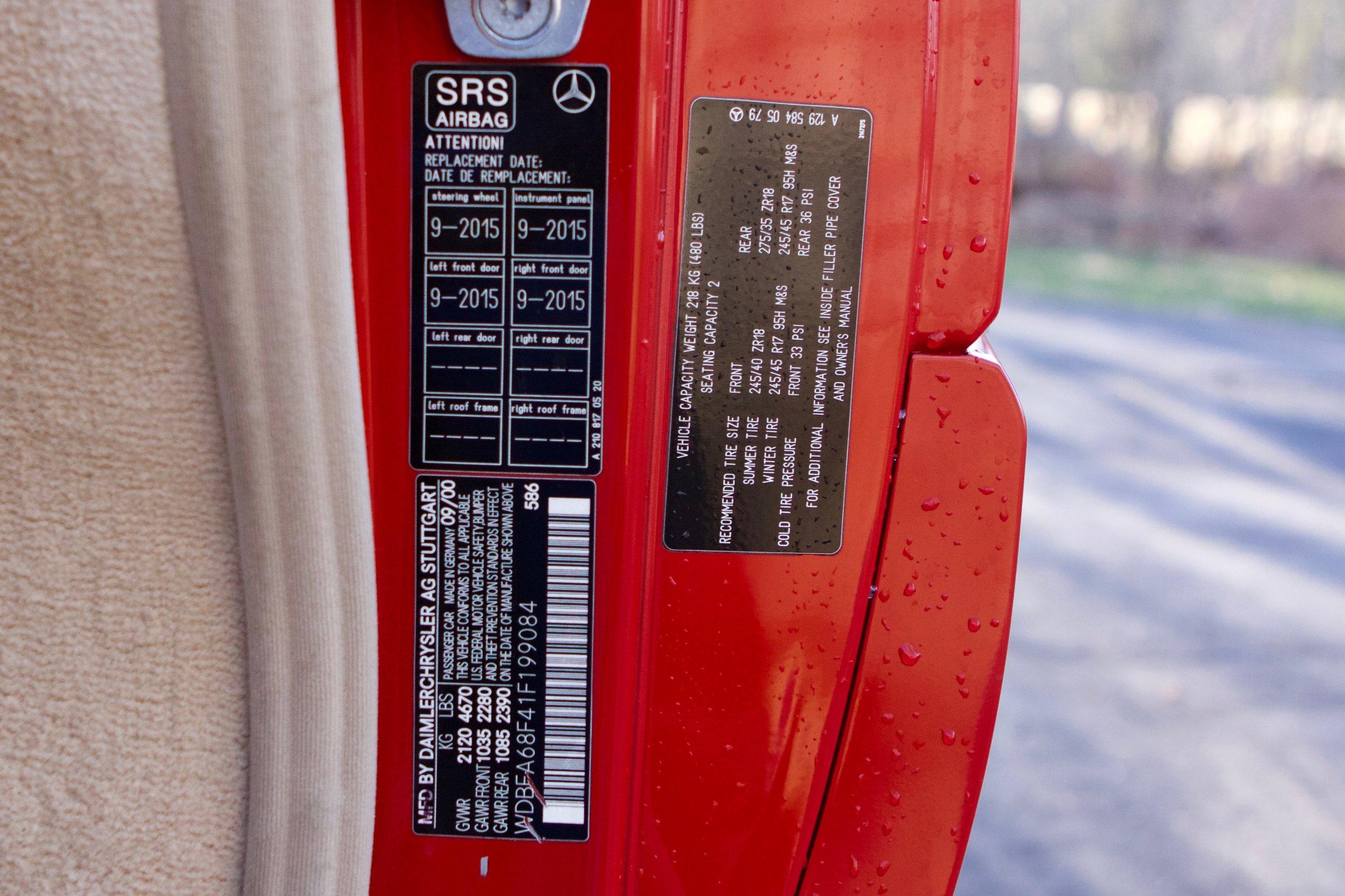 20190504 VIN199084 2001 500SL AMG - 17.jpg