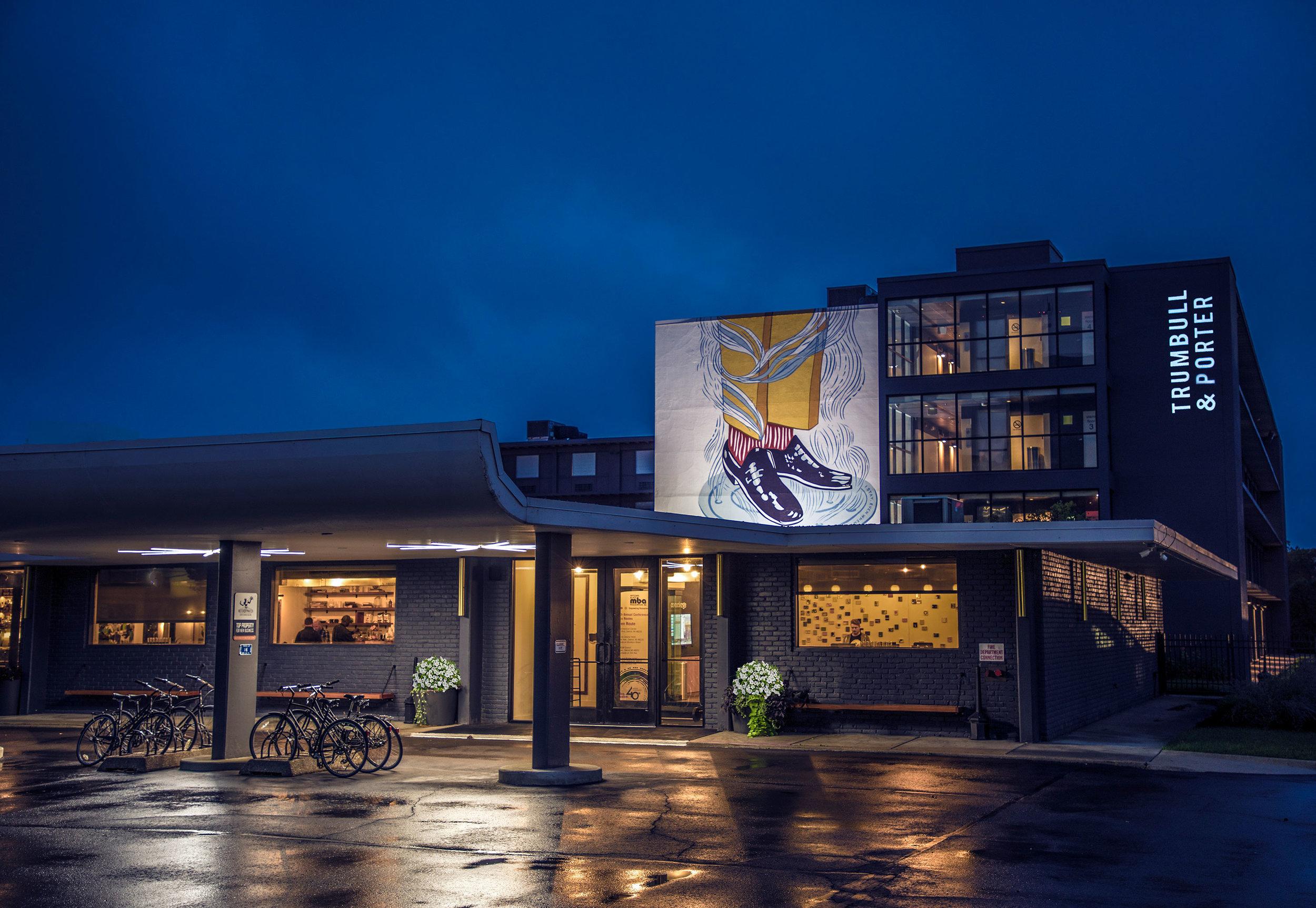 PHOTO: RACHEL FERNANDEZ. COURTESY OF TRUMBULL & PORTER HOTEL DETROIT