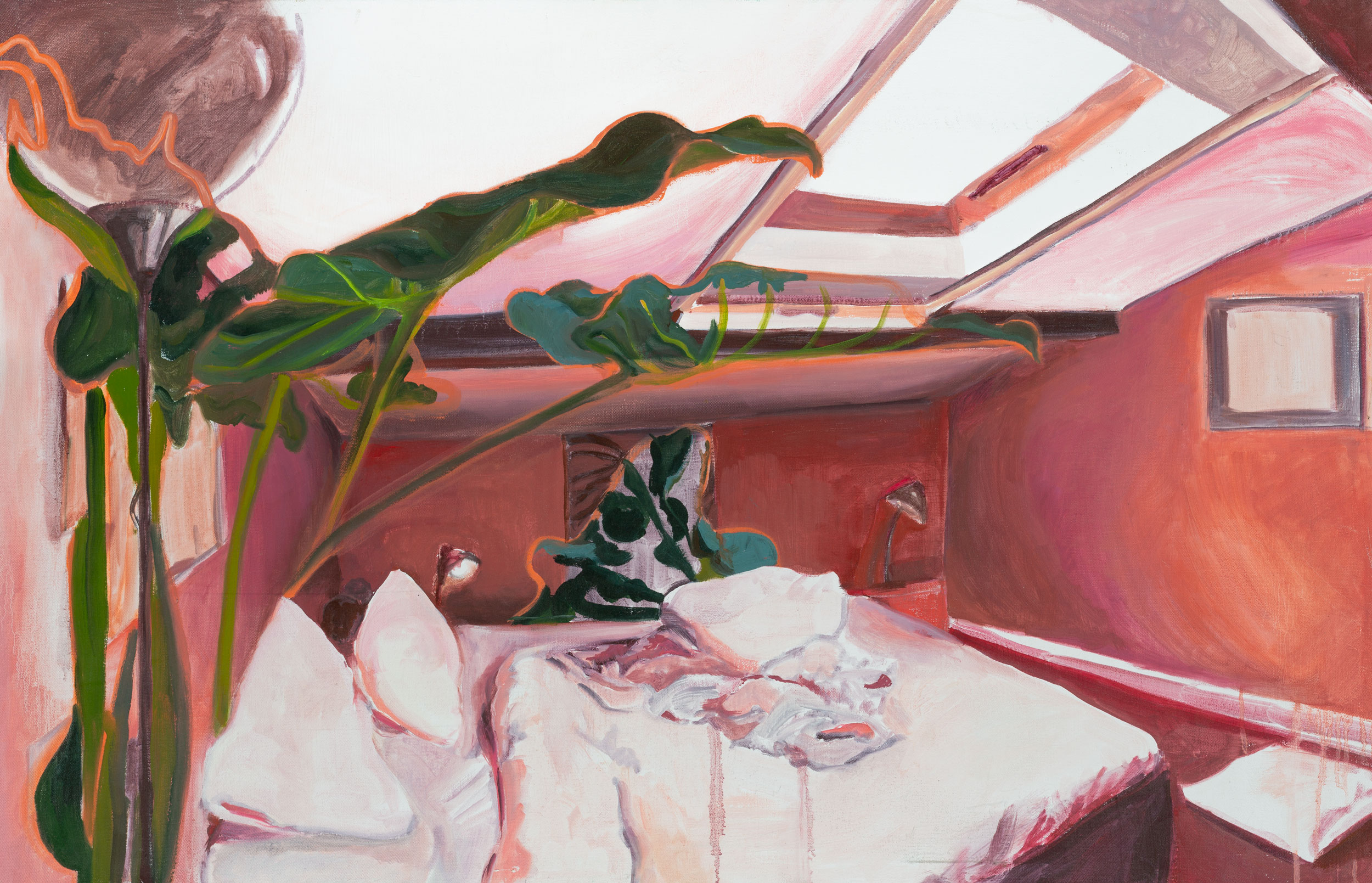 GISELA MCDANIEL,  RED ROOM , 2017