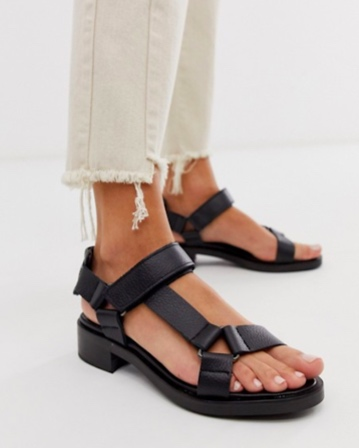 ASOS WHITE Bluebell Leather Sandal , $102US