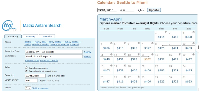 Matrix By ITA Software Is A High Powered Flight Search Engine For Finding The Best Dates (photo courtesy of ITA Software)