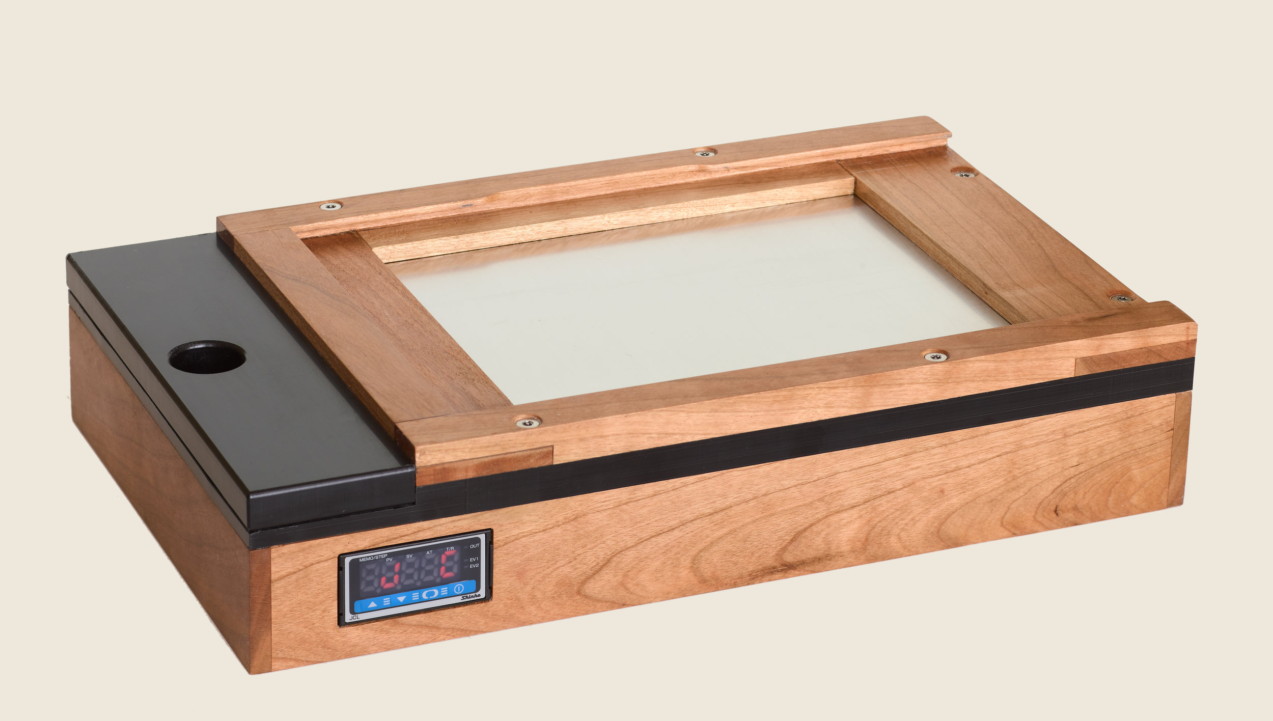 - At right is a 5 x 7 model designed for use with a film holder supplied by the client.In Cherry with a satin oil finish