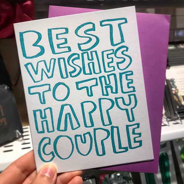 No, you wouldn't be the first or only one to buy a card on your way upstairs to a wedding at the @dtmarketgr. You'd be in very good company. 😉