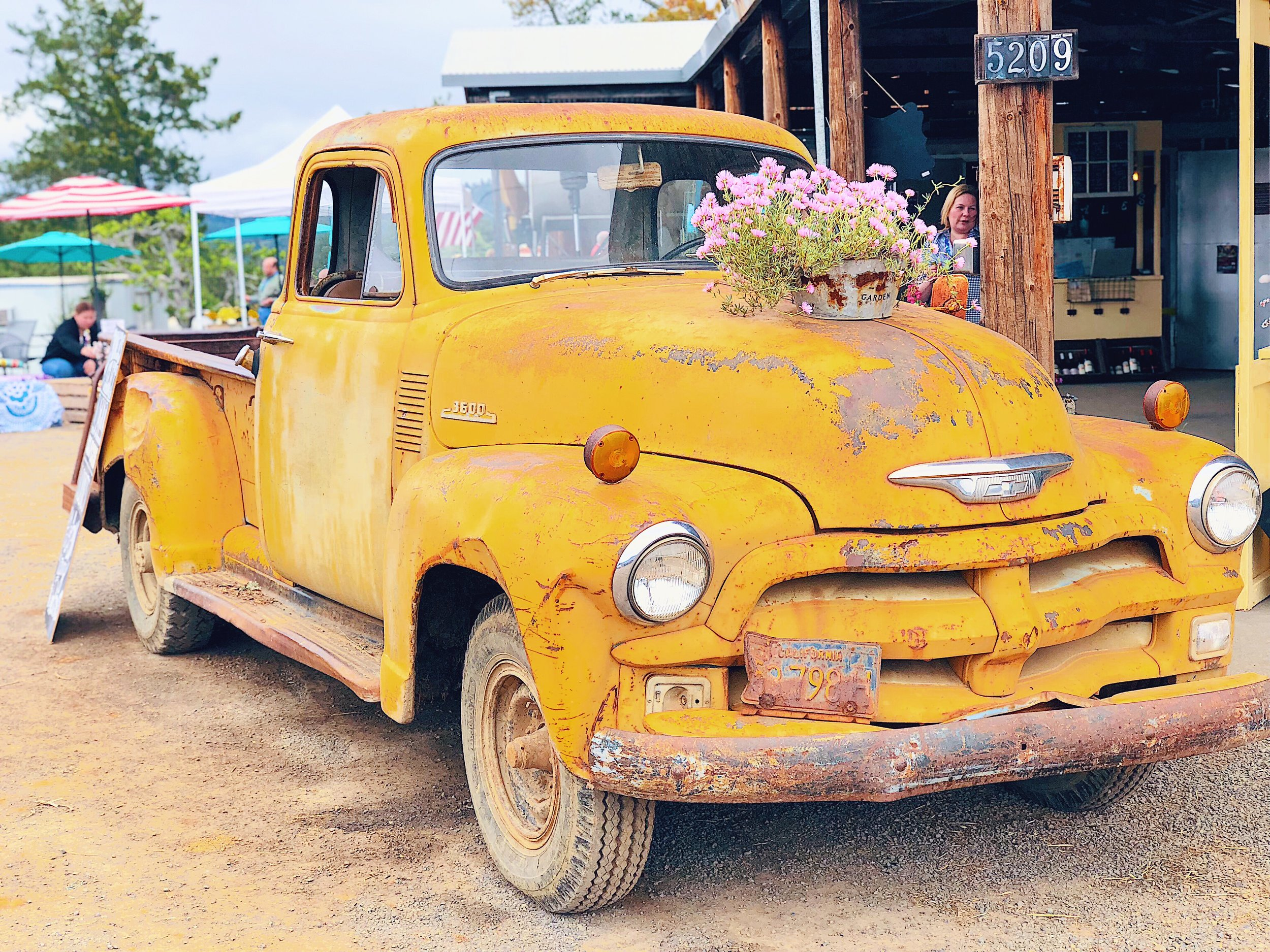 Vintage Truck Mounts Winery