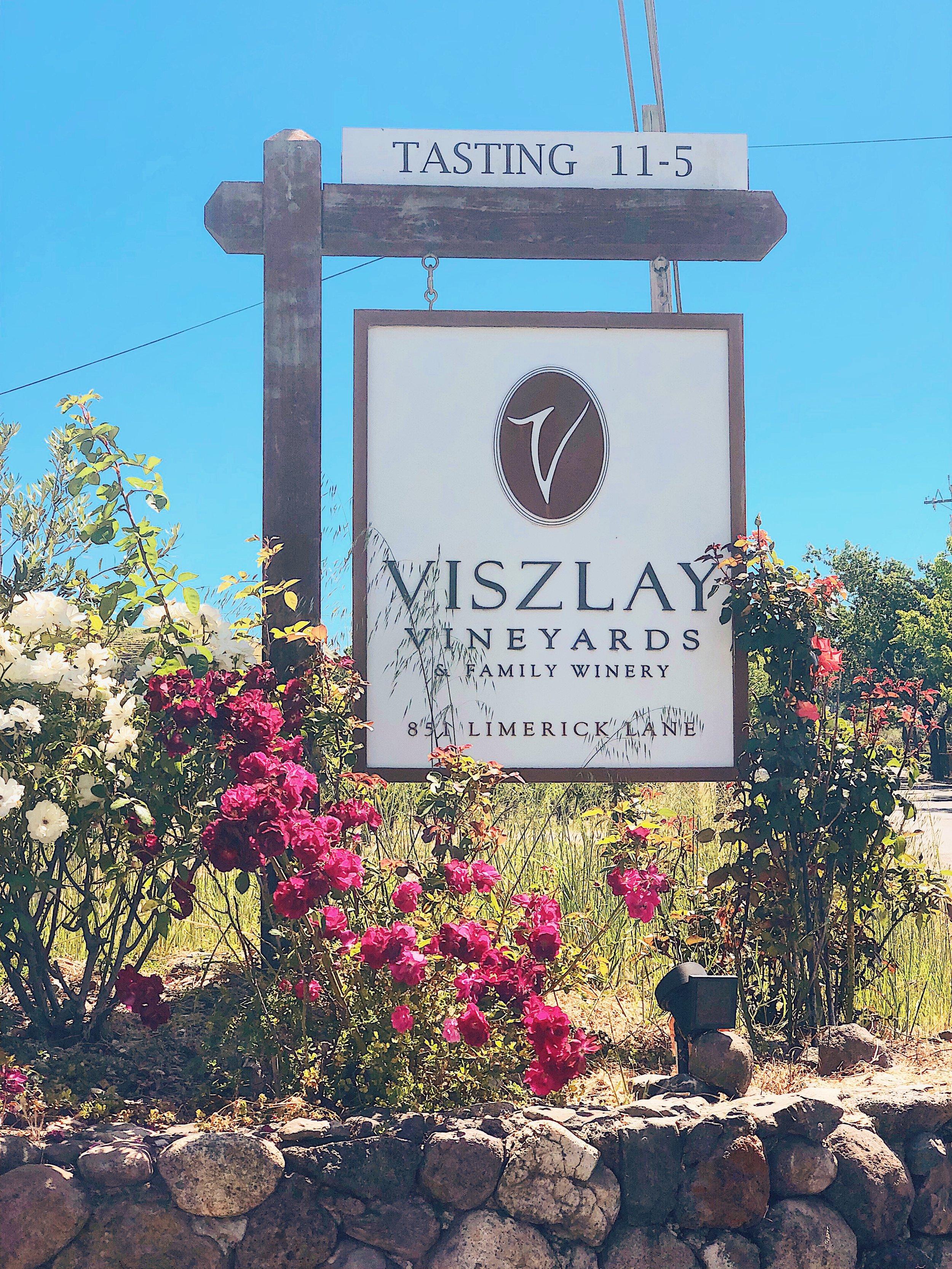 Viszlay Vineyards and Sonoma Wine Life