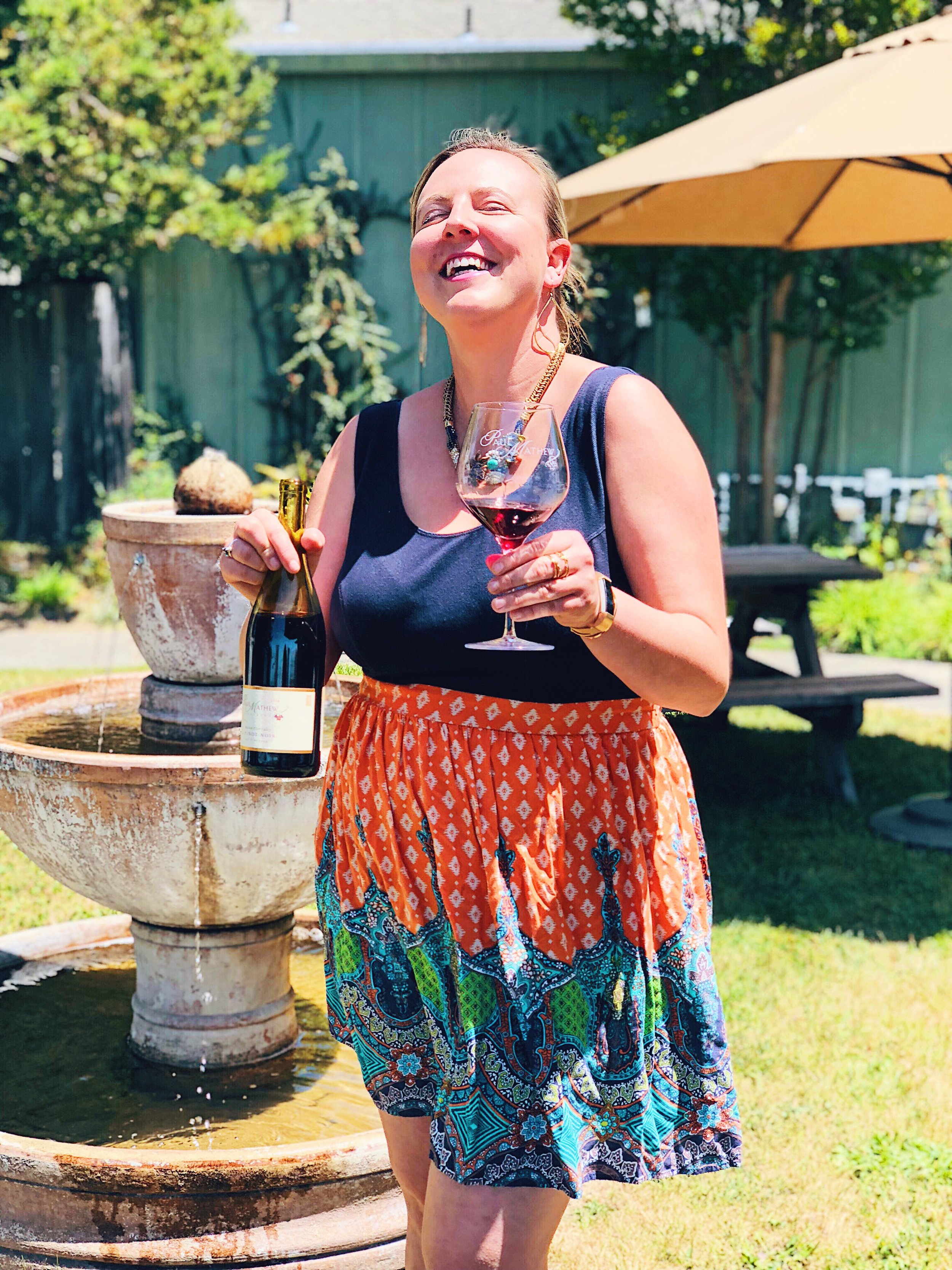 Sunny Wine Tasting In Graton Paul Mathew