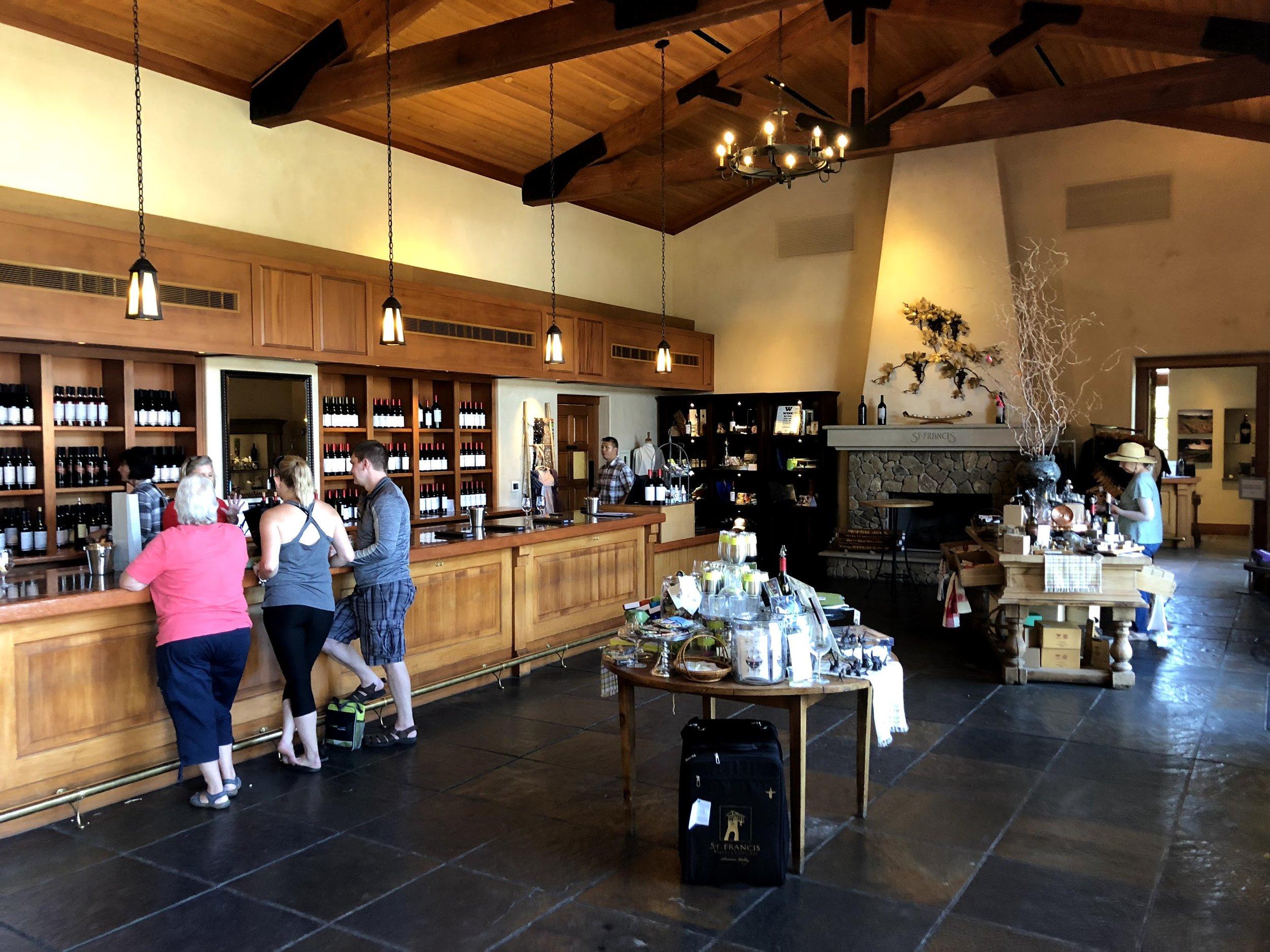 Tasting room at St. Francis Winery