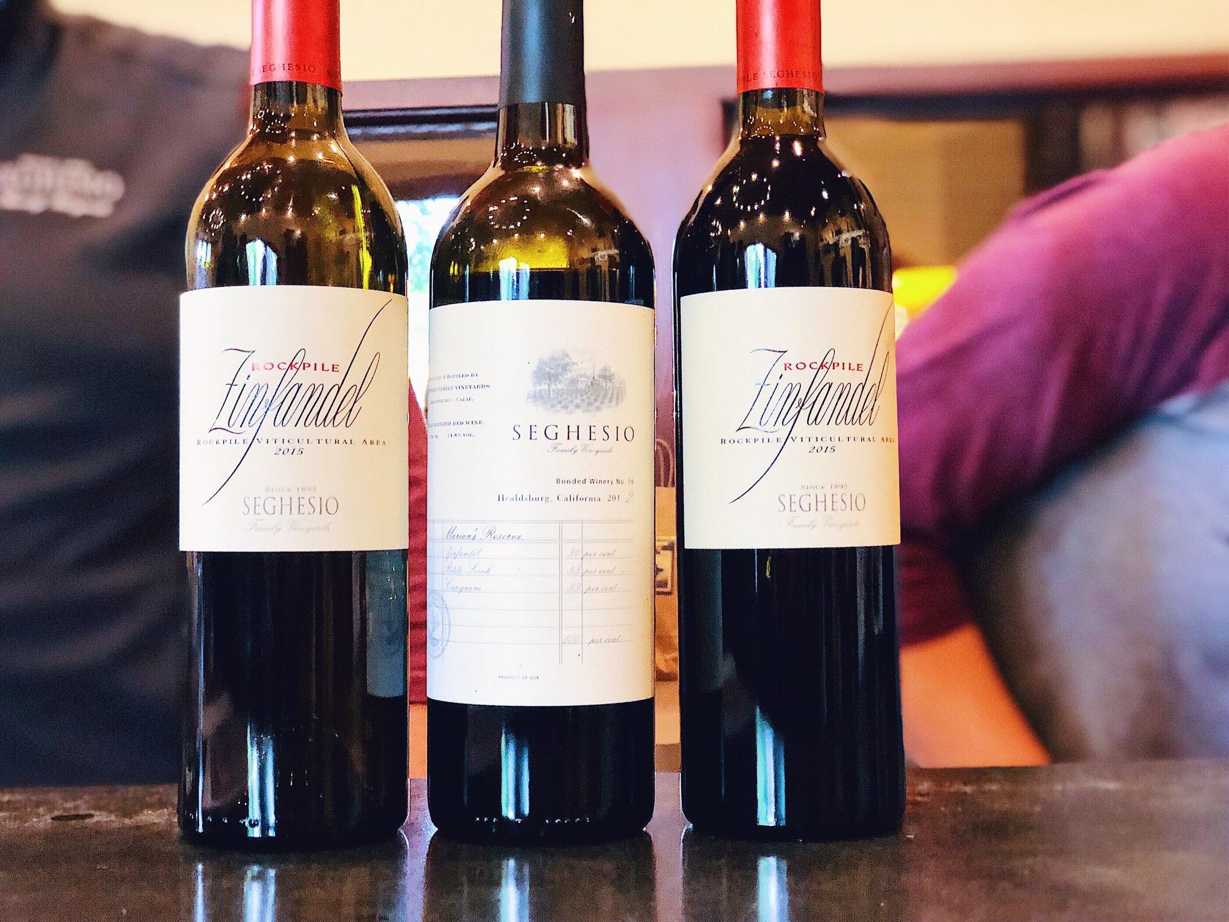 Seghesio Wine Bottles