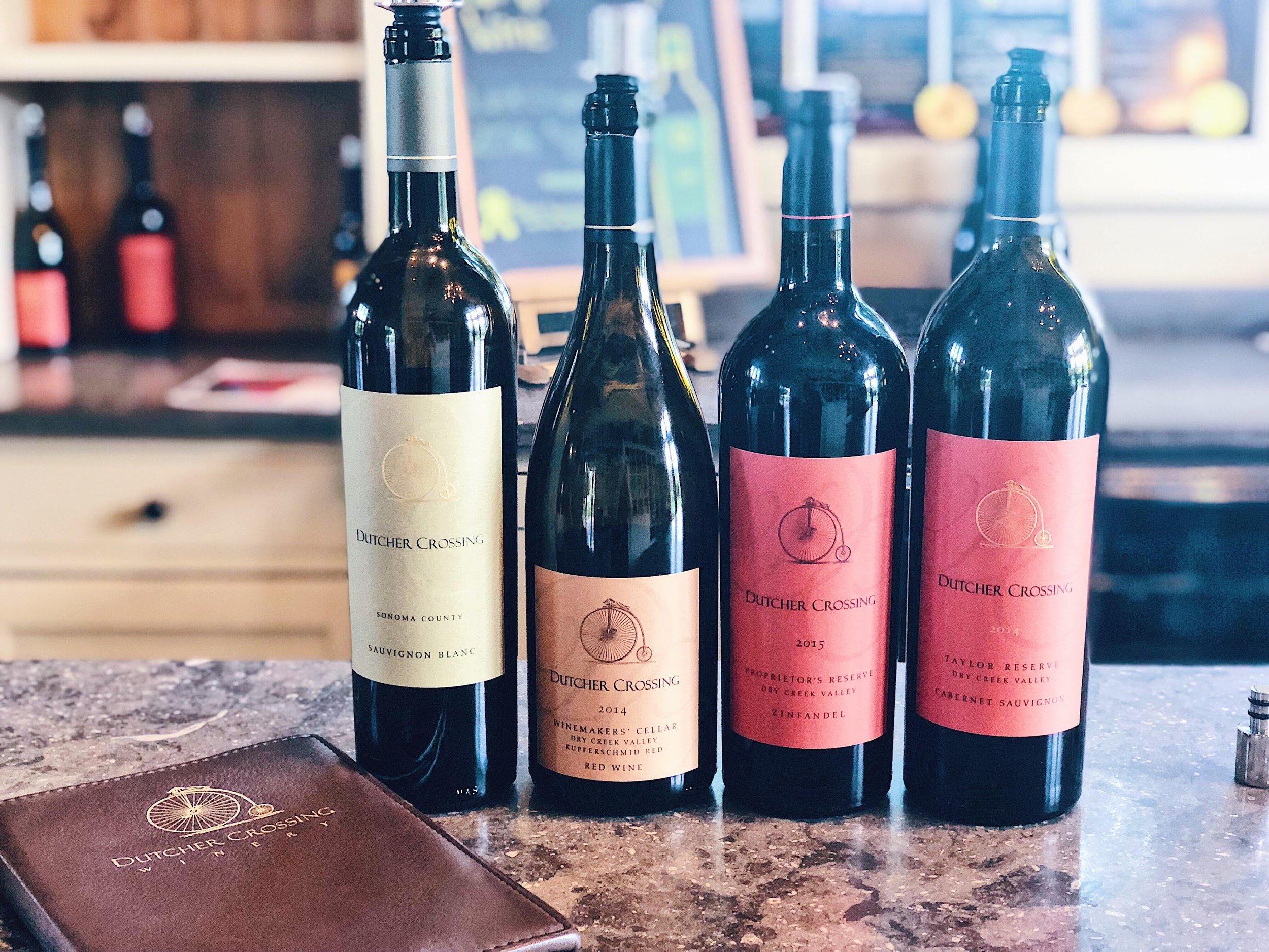 Dutcher Crossing Wine Bottles