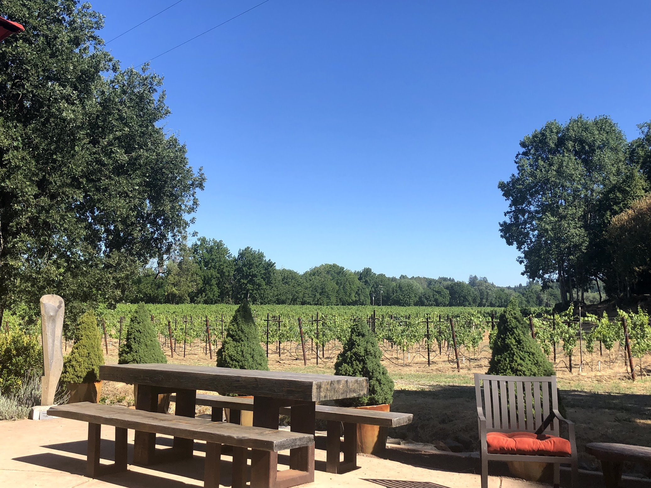 Gracianna Winery Patio Wine Tasting