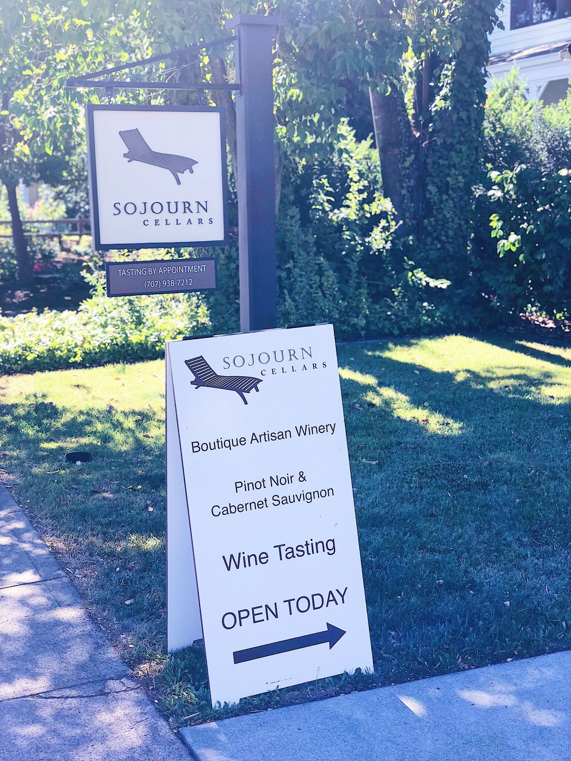 Sojourn Cellars tasting Salon By Appointment