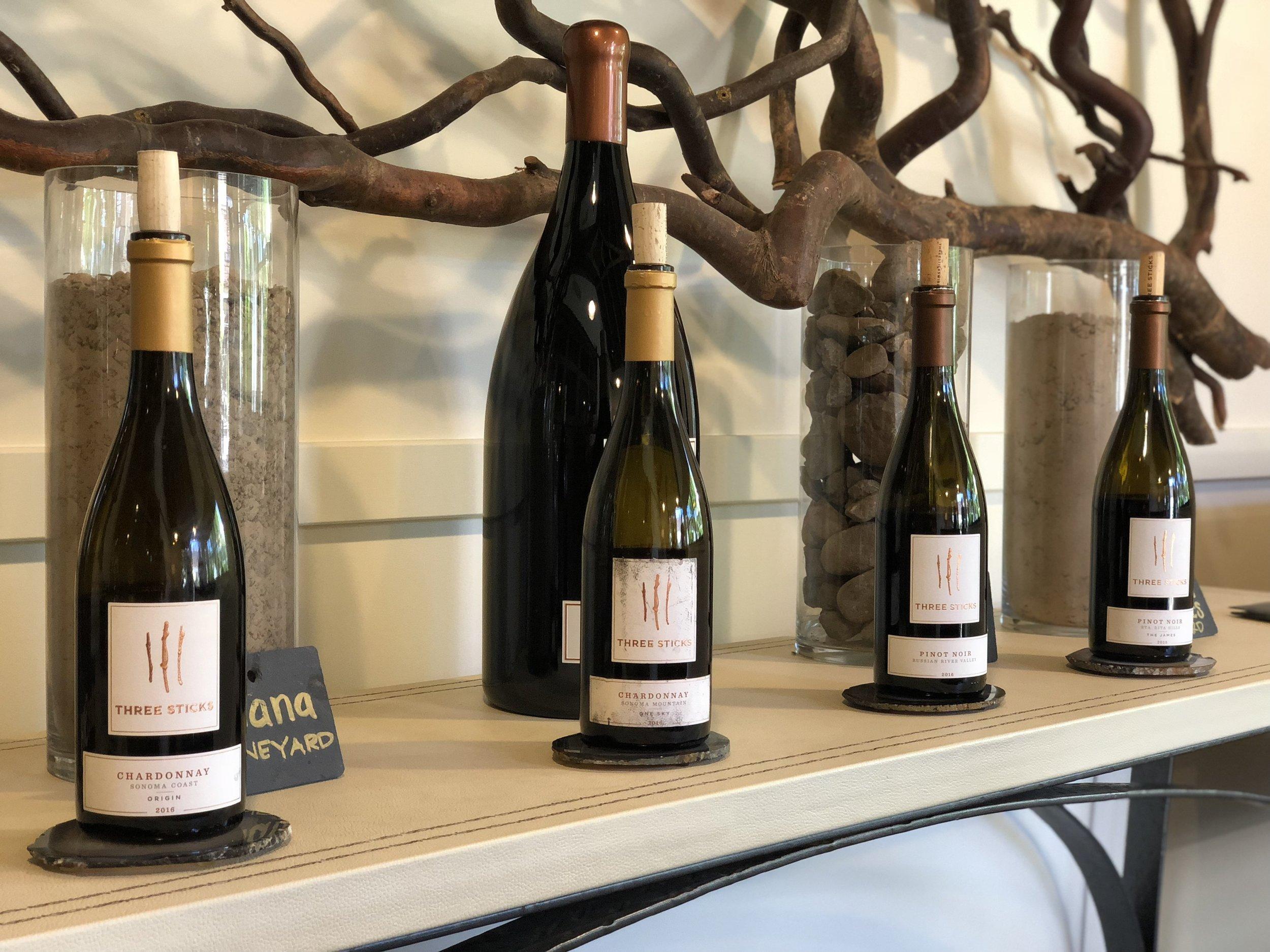 Three Sticks Wine Tasting Sonoma