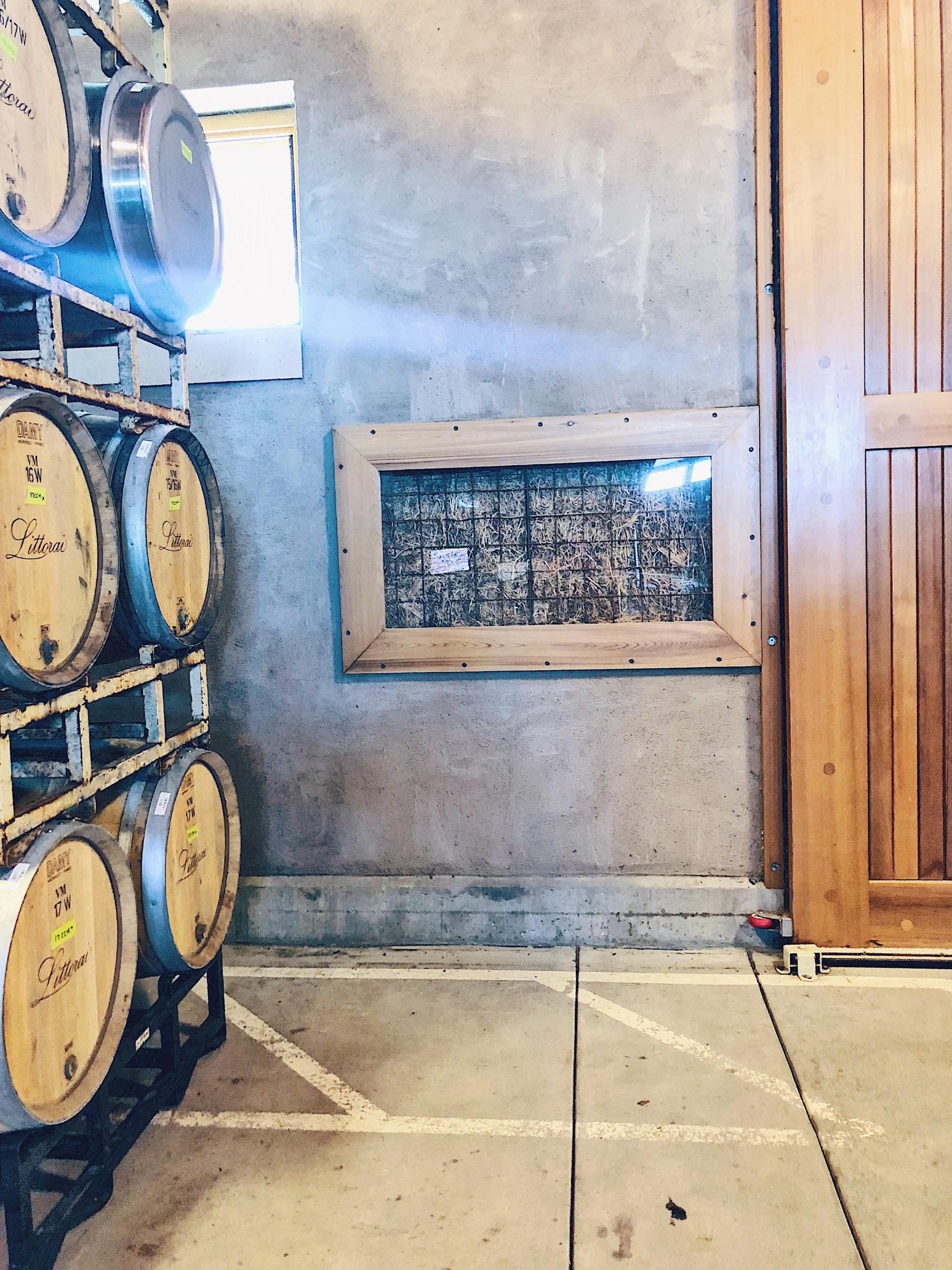 Littorai Winery Wine Barrels