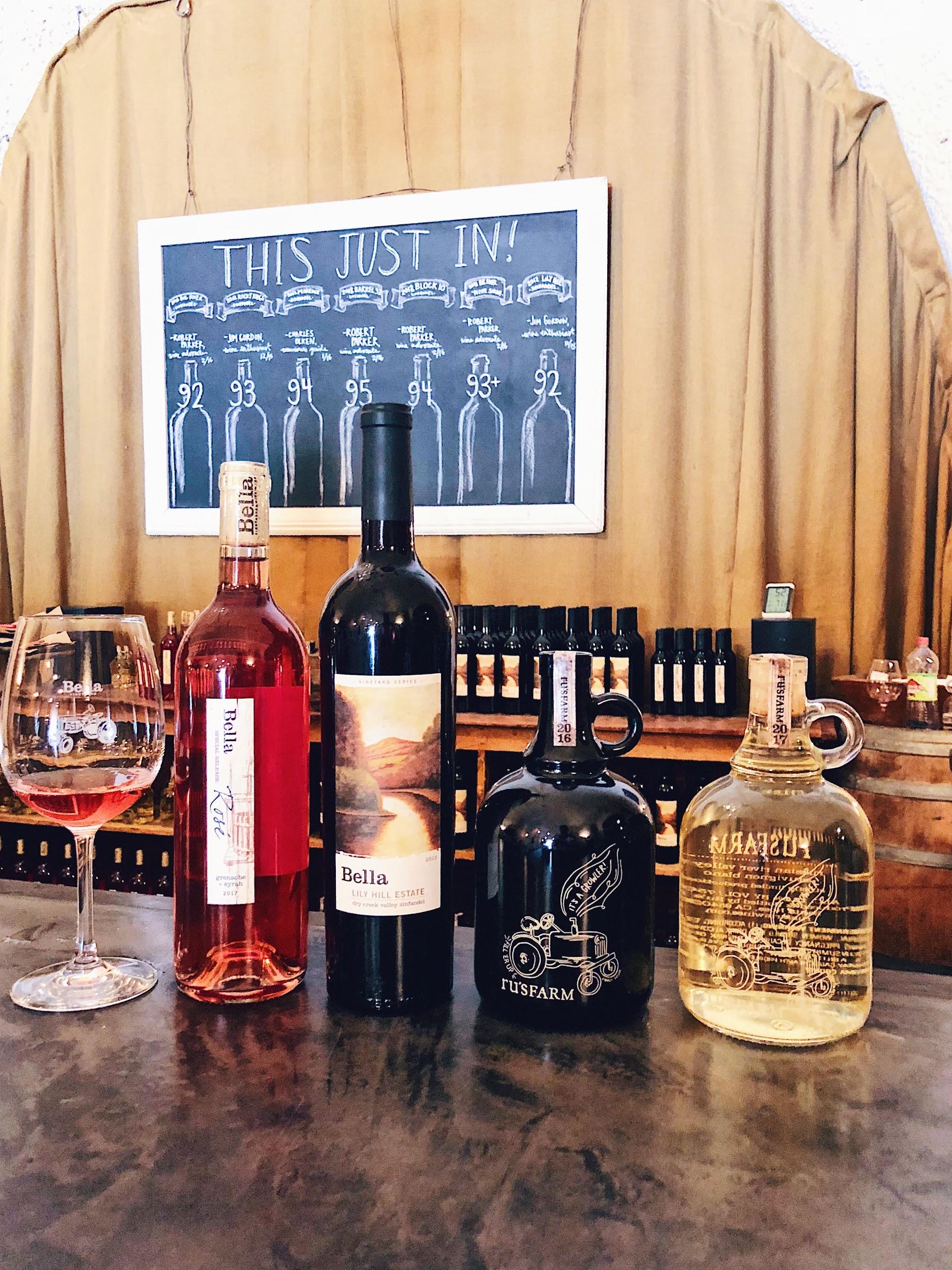 Wine tasting at Bella Vineyards
