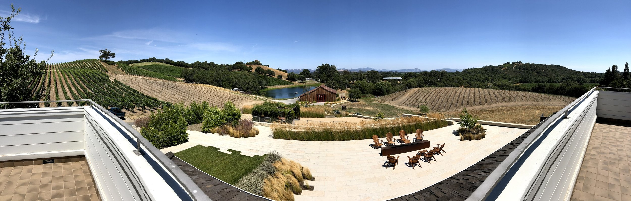 View Of Kistler Vineyards Pinot and Chardonnay