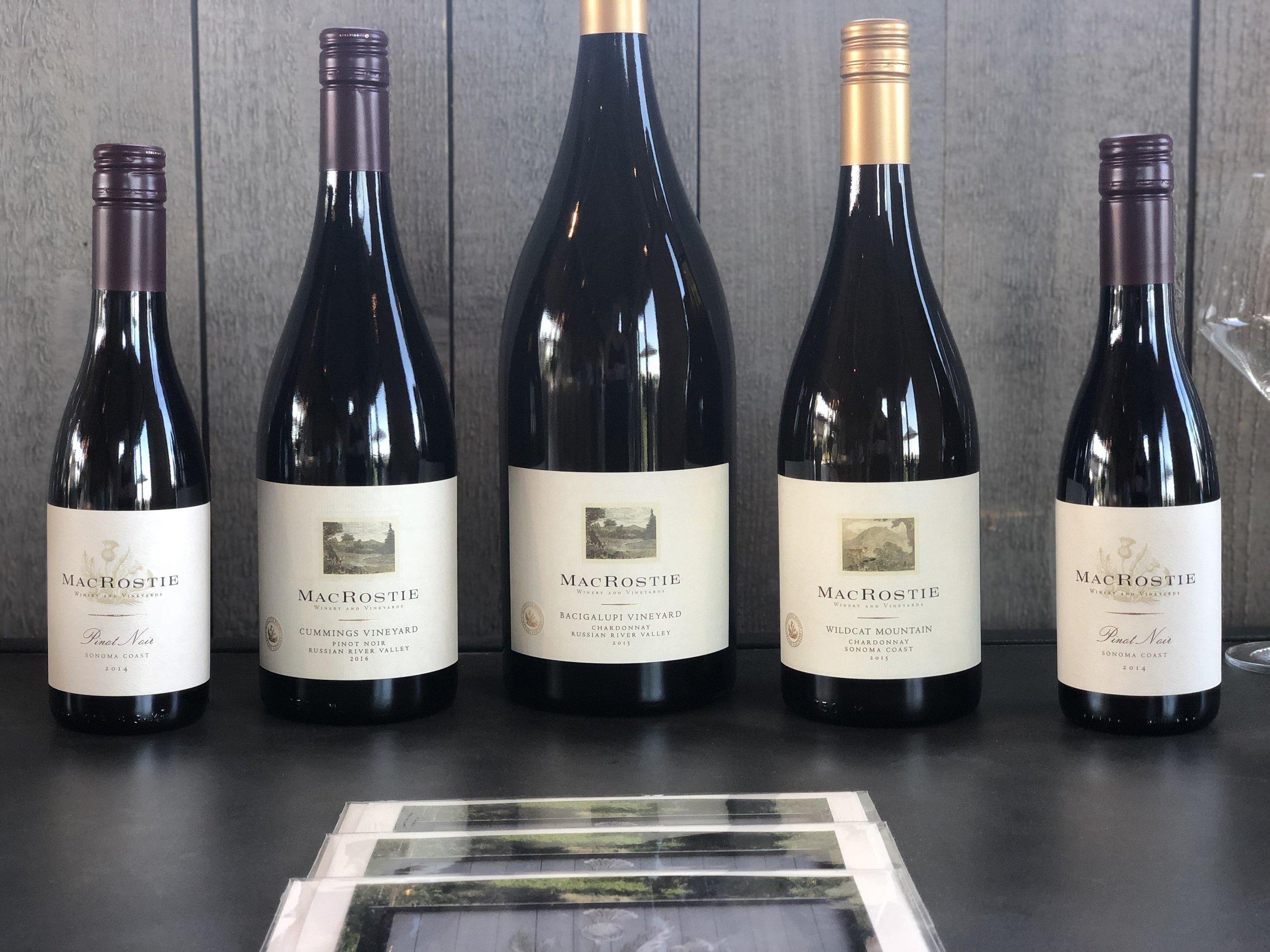 MacRostie Pinot Noir Tasting