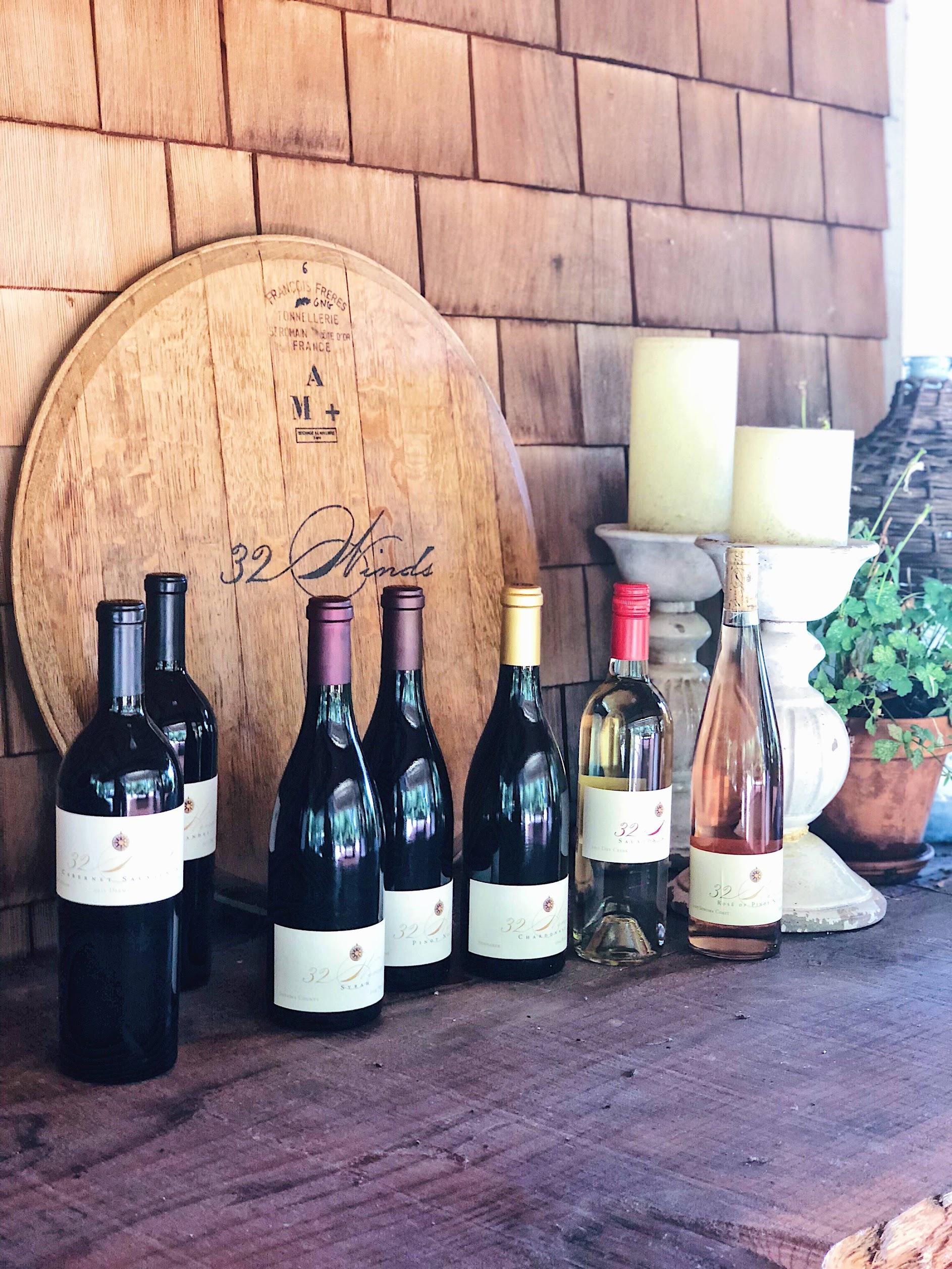 32 Winds Cabernet, Syrah, Pinot, Chardonnay, Rosé
