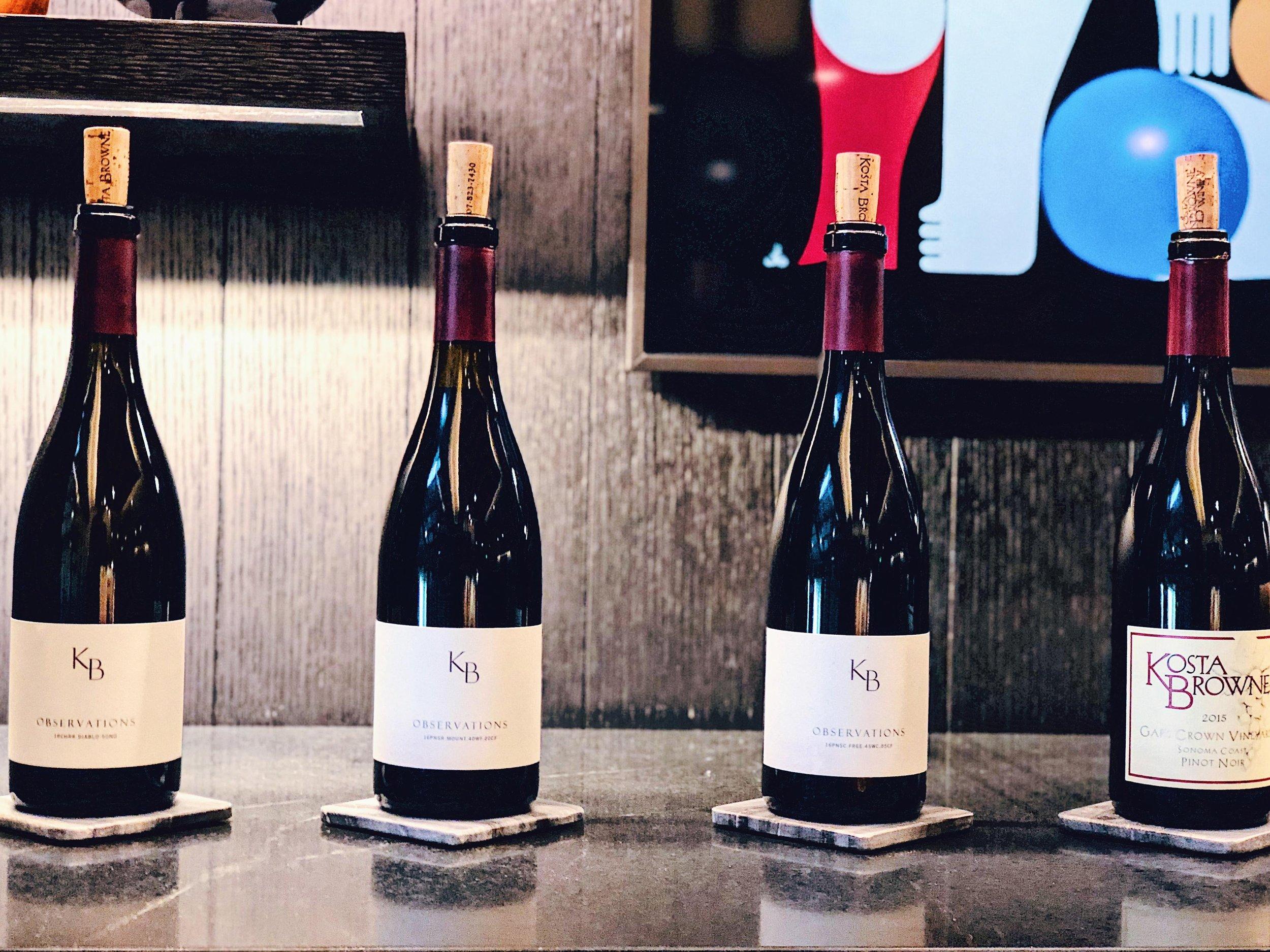 Observation Series Wines At Kosta Browne