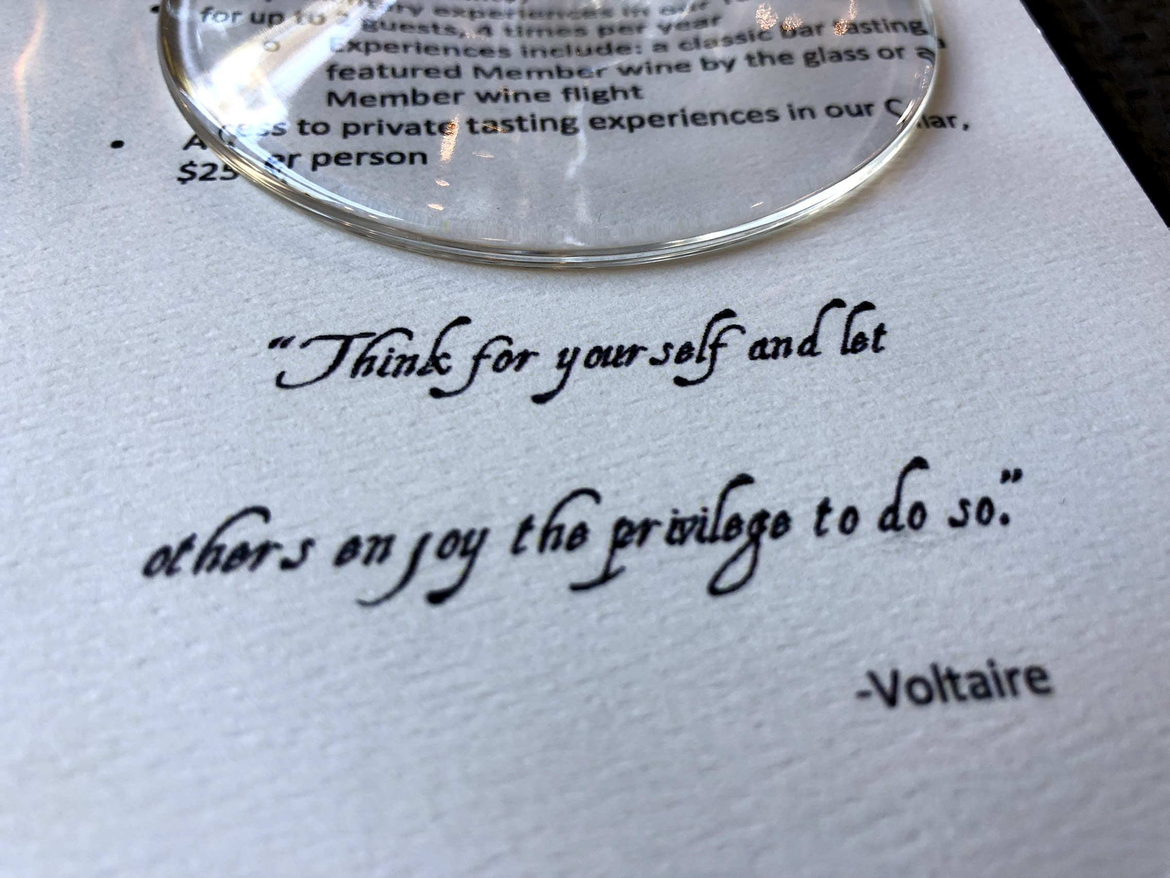 Voltaire and Wine