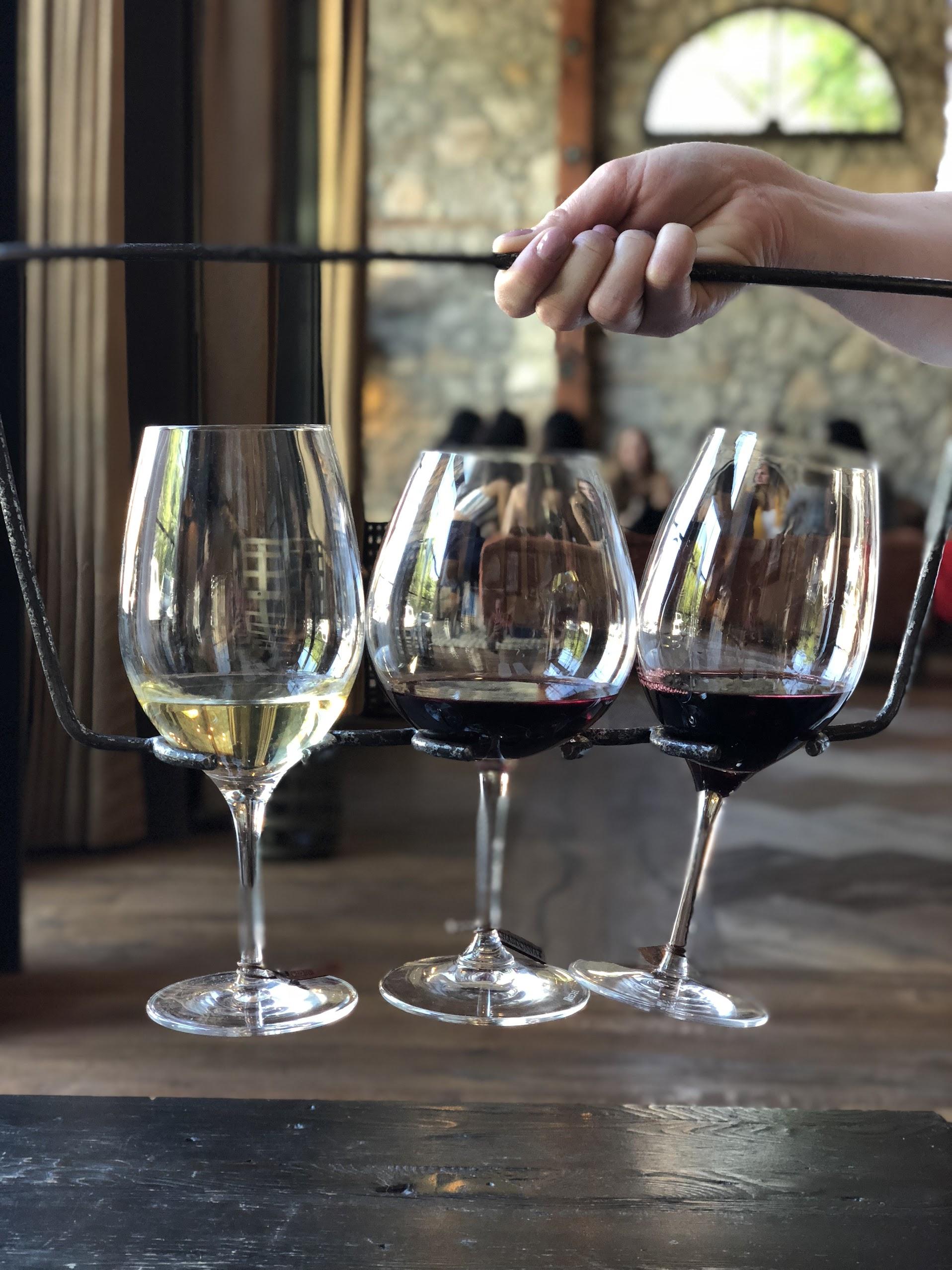 Wine Tasting Flight At Pangloss