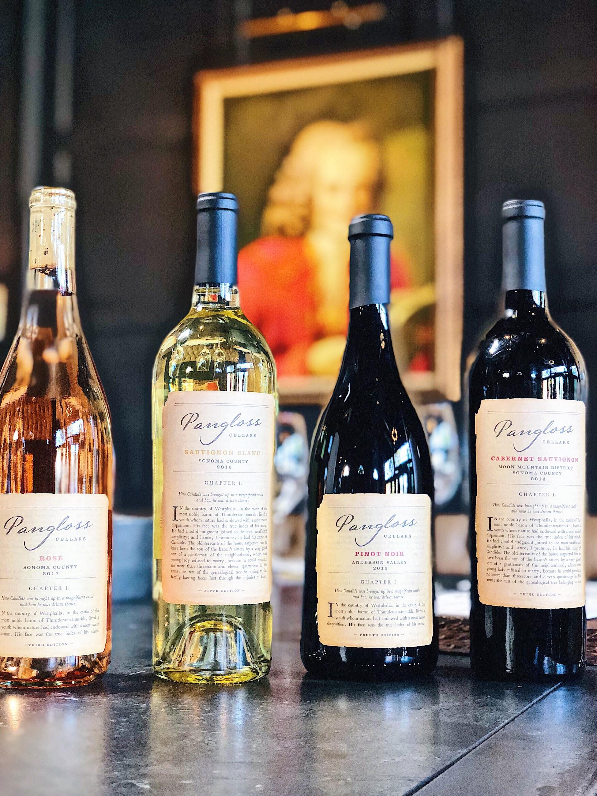 Pangloss Cellars Pinot, Rosé, Cabernet, Zinfandel Wines