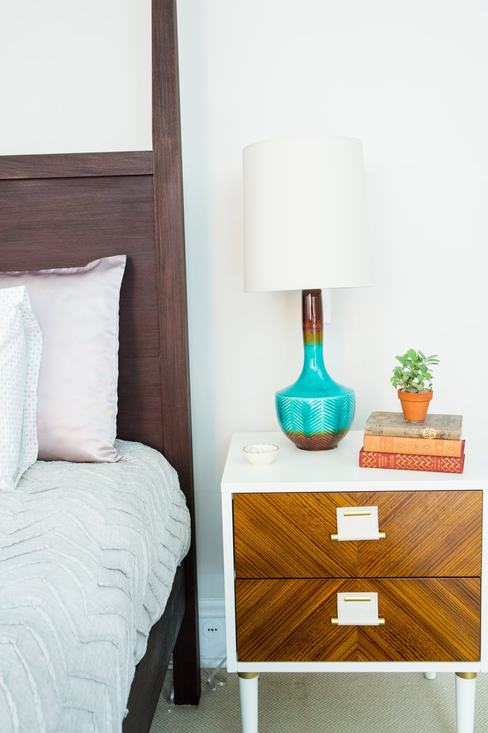 Michelle Gage // Before + After: Bright / Bold Master Bedroom