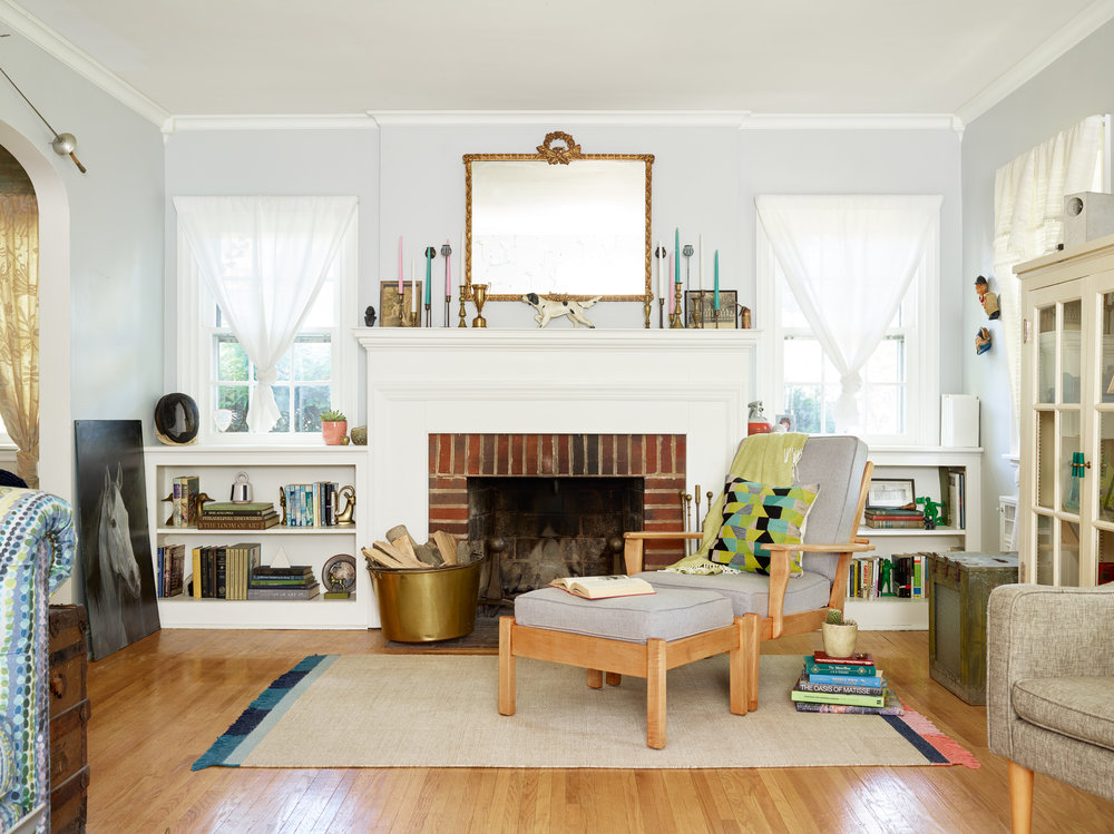 Michelle Gage // Before + After: My Living Room Reveal