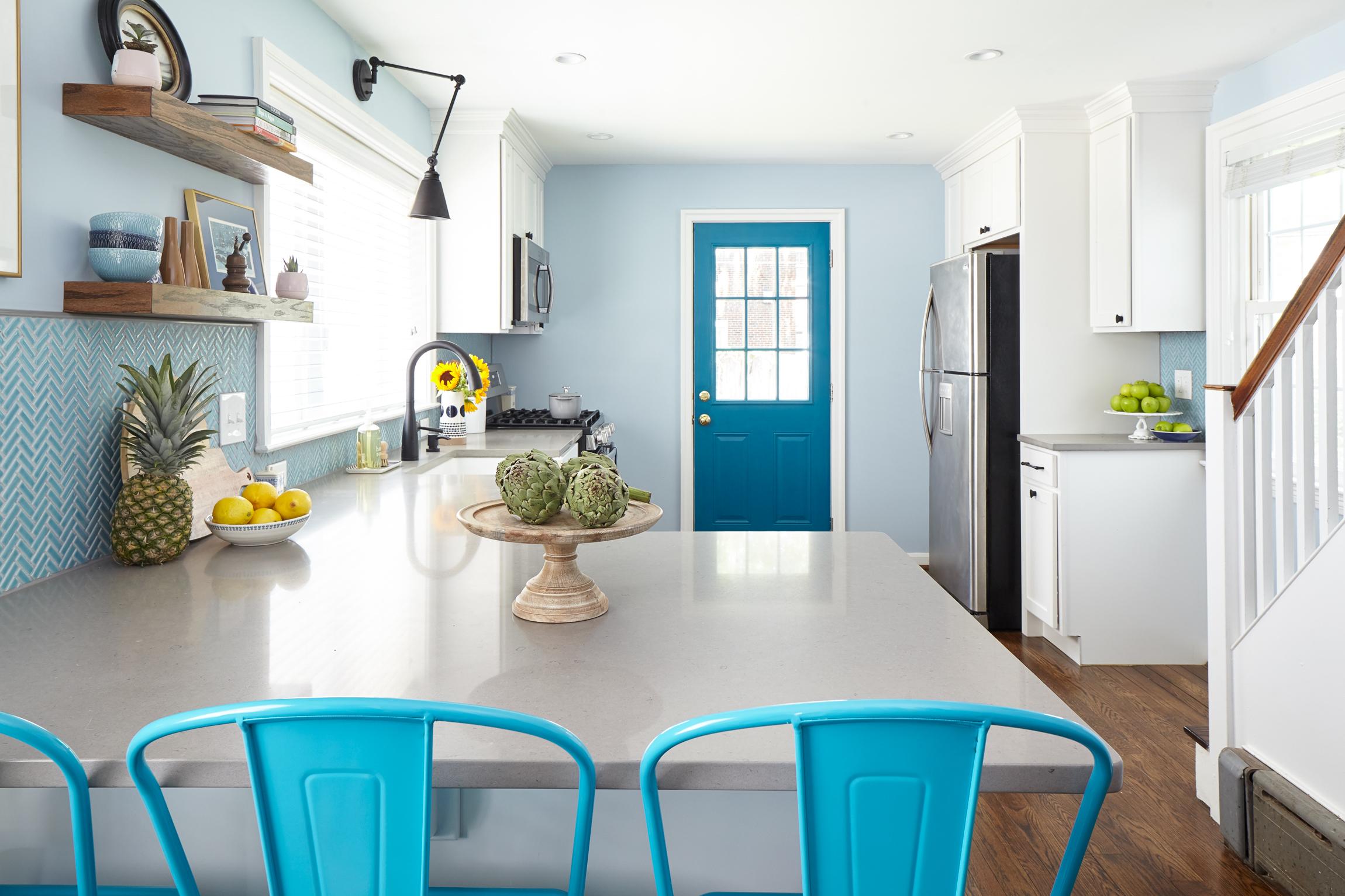 Michelle Gage // Blue + White Kitchen in Bala Cynwyd