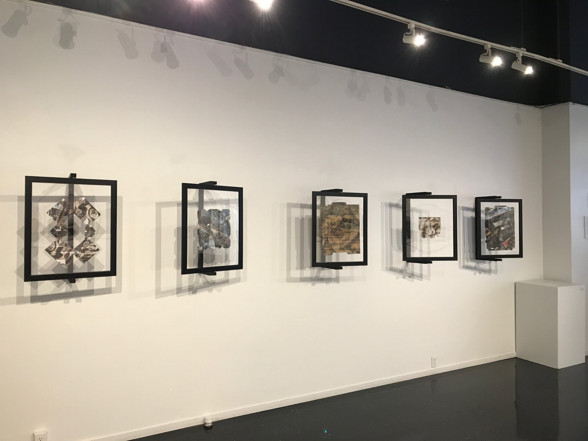 Images are hung, ready for the show.