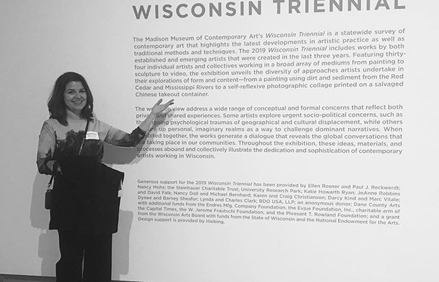 Great opening night at #wisconsintriennial2019! Thanks so much to @mmocamadison staff for putting together an amazing show—so grateful to be included.
