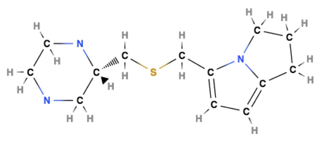Figure 2. Visualization of STAT 3 inhibitor 1.