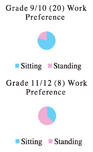 Figure 4. Survey results for sitting or standing preference.