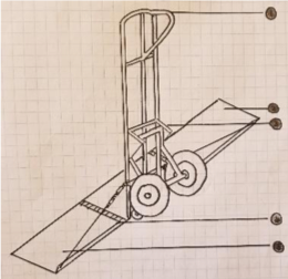 Figure 1. Blueprint with SW view with nose plate extensions.