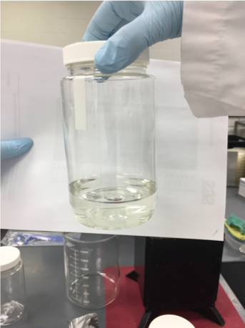 Figure 3. Final water sample after filtration.